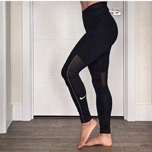 High Waisted Nike Pro Leggings Medium